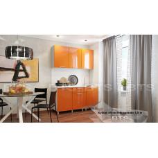 """Кухня 1,5м. """"Блёстки оранж"""""""