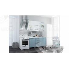 """Кухня 1,5м. """"Бьянка"""" голубые блестки"""