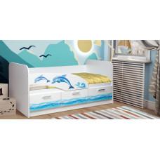 Кровать одинарная Дельфин
